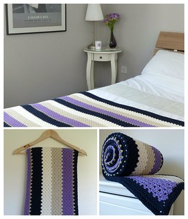 Handmade crocheted double bed throw