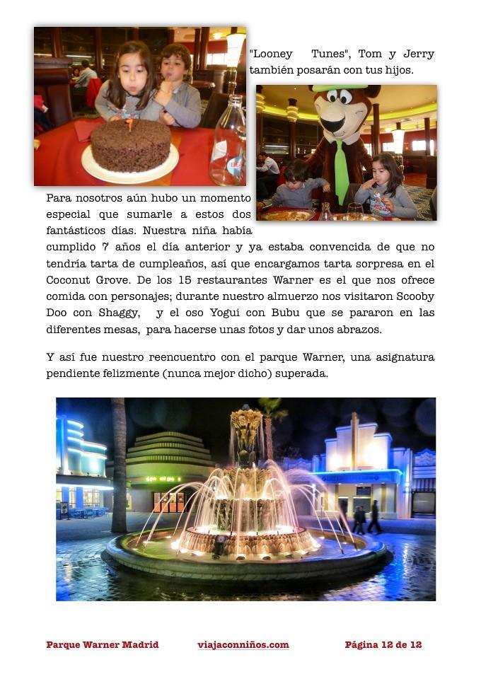 Parque Warner Madrid toma de contacto