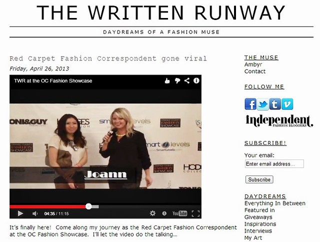 the written runway oc fashion showcase fashion blogger style love fashion live life joann doan red carpet interview