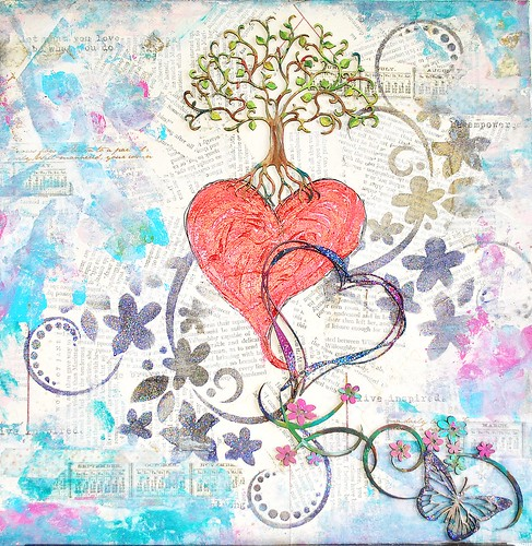 Heart and Tree canvas full