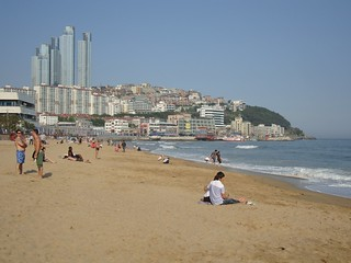 Image of Haeundae Beach (해운대해수욕장) Haeundae Beach near Haeundae-gu. hillstate