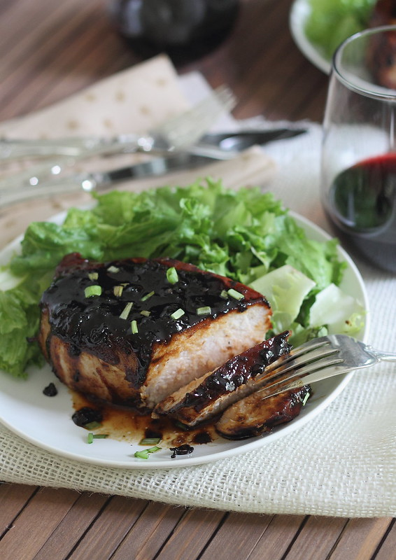 Honey soy pork chop