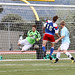 Bellingham United GK Leo Cohen adjusts in midair to stop header from Heat's Jacob Kaay_2166