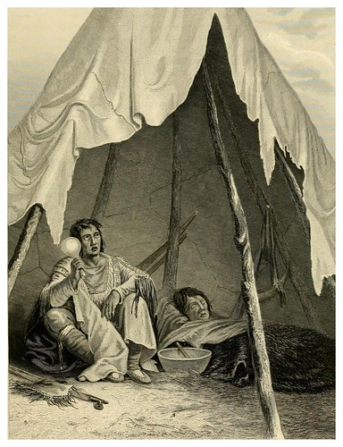 005-Brujo cuarando a un paciente-The Indian tribes of the United States..1884-H. R. Schoolcraft