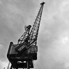 Docklands Crane #docklands #crane #London #Canary_Wharf #Isle_of_Dogs #E14