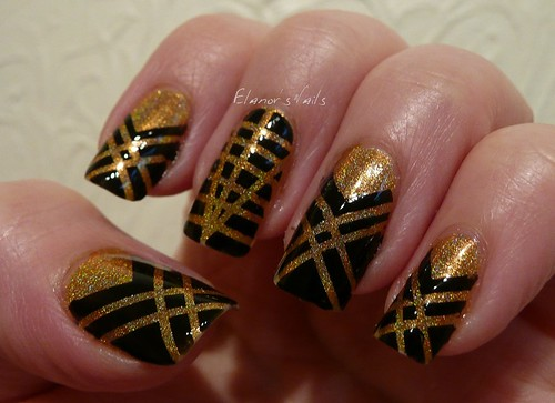 art deco tape nails 3