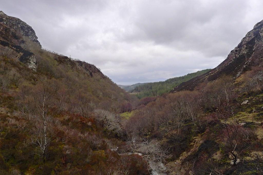 Looking back down Gleannan Dorch