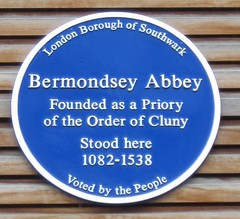 Photo of Bermondsey Abbey blue plaque