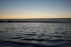 Kürzere längere Belichtung beim Sonnenuntergang.
