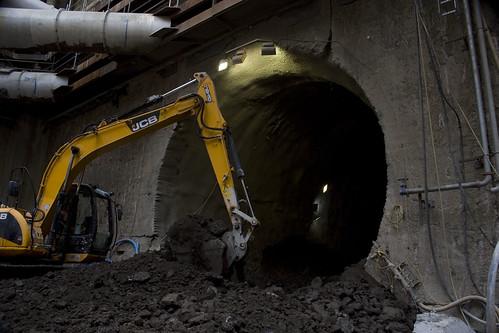 A future crossrail train tunnel