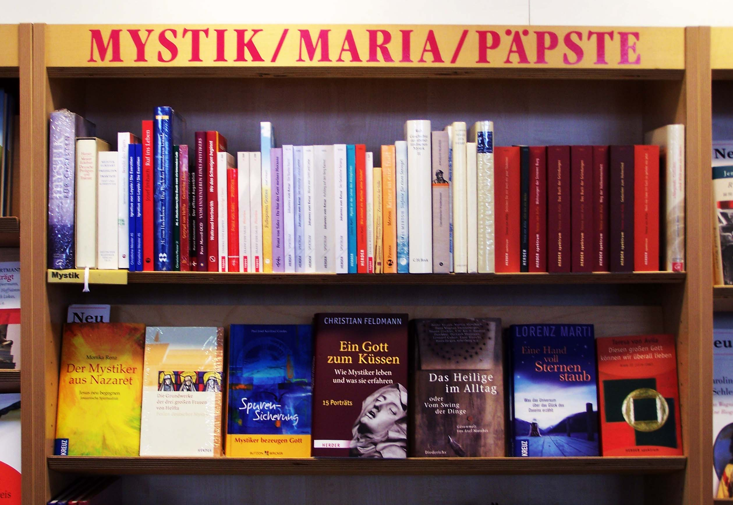 Dombuchhandlung München, Mystik Maria Päpste