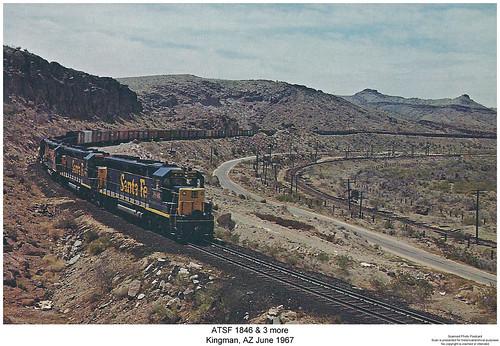 railroad arizona santafe train diesel railway trains locomotive trainengine kingman sd45 emd atsf atchisontopekaandsantafe sixaxle