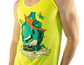 Mens House Music tank top by carlos aguilar