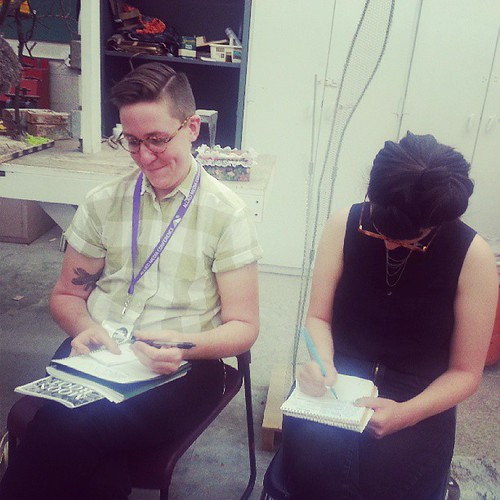 Attendees making #zines at our session at #amc2013 #makezines on June 21 2013