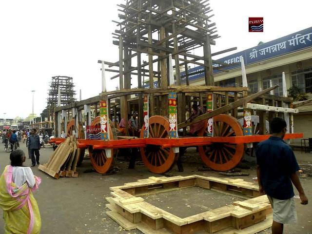 Para Bhadi ( Part of the Ratha ) construction work