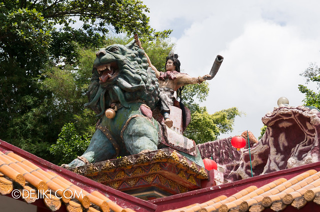 Haw Par Villa - mythic beast and warrior