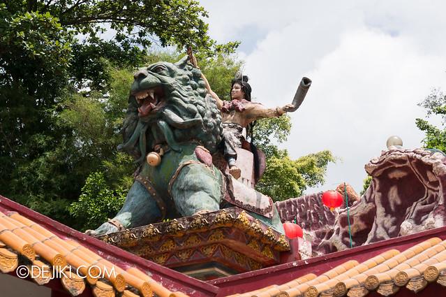 Haw Par Villa - mythic beast and warrior