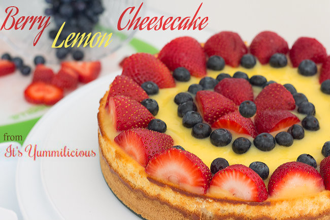 Lemon Berry Cheesecake from ItsYummi.com