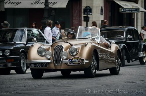 Jaguar XK120OTS ~ la traversee de Paris estivale ~ 2013