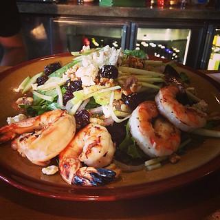 Michigan salad grilled shrimp