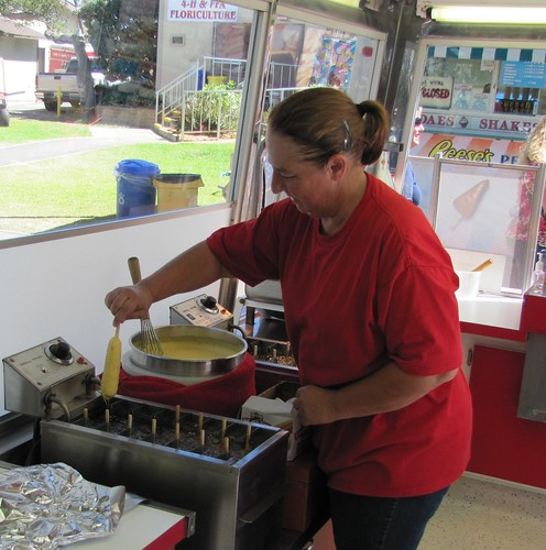 Hand Dipped Corn Dogs at the Monterey County Fair