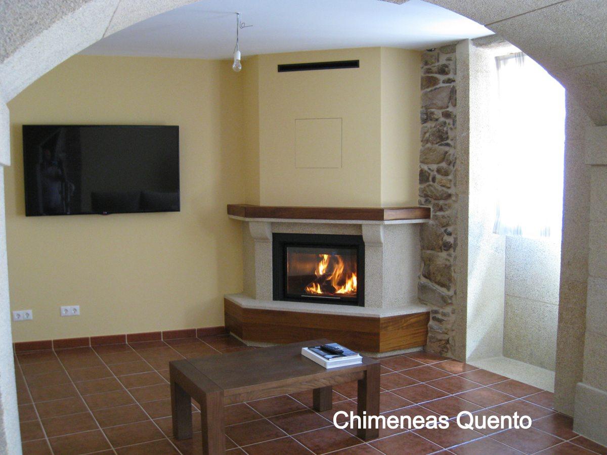 Chimenea quento modelo chantada con apto calefactor - Chimeneas quento ...