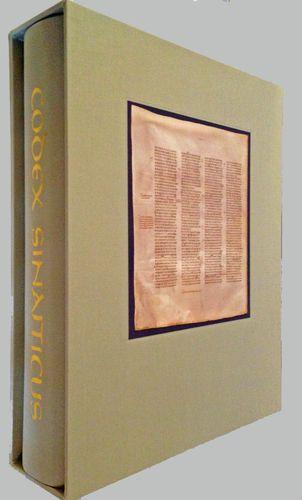 Codex Sinaiticus (Facsimile) - Internet Bible Catalog