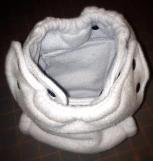 Medium fleece fitted diaper