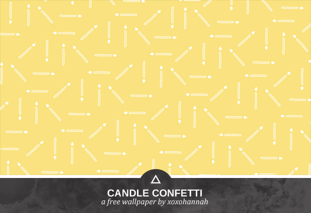 Candle Confetti Desktop Background Preview in Yellow
