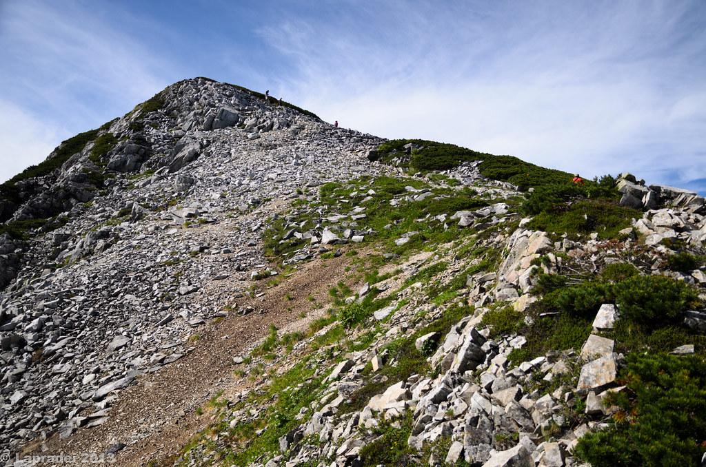 20130813 黒部五郎岳山頂へ