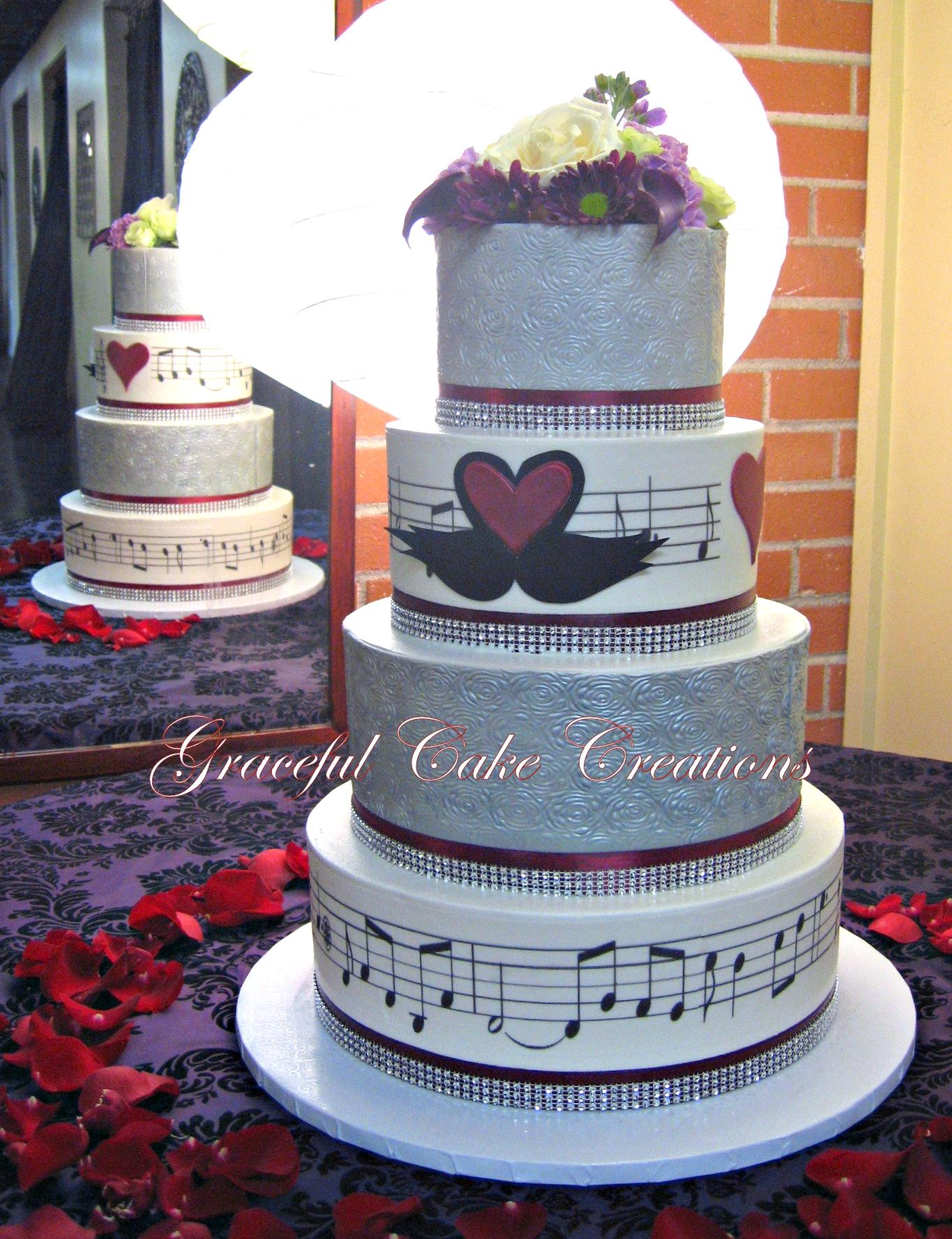 Kissing Swan Cake Topper