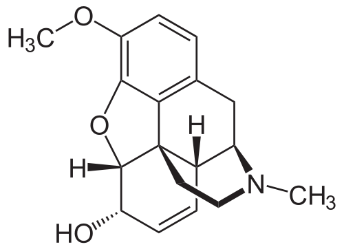 codeine chemical structure