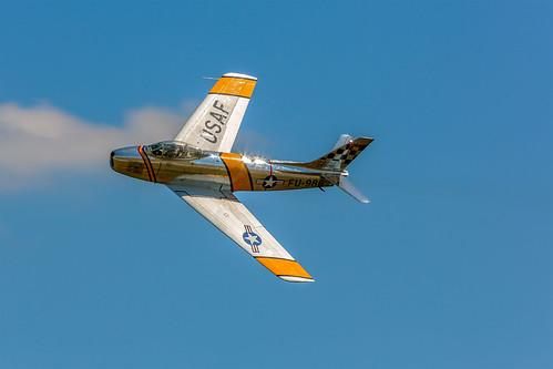 aircraft northcarolina astronaut airshow sabre f86 sabrejet f86f northamericanf86fsabre winstonsalemairshow astronautjohnglenn johnglennjet