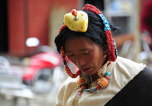 The headdress, Tibet 2013 by reurinkjan