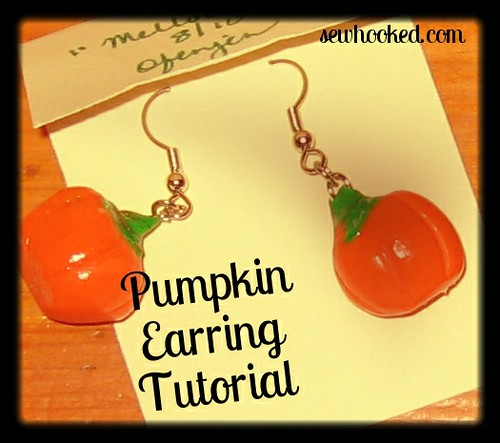 Pumpkin Earring Tutorial