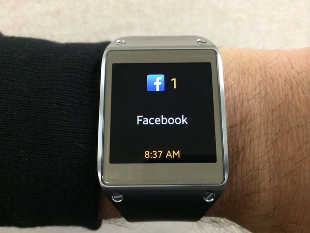 Facebook notification on the Galaxy Gear