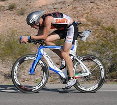 Racing at the Ironman IM 70.3 Championships in Navada