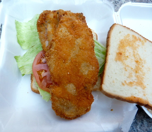 A no frills fried fish sandwich at terrace fish chips for Terrace fish and chips