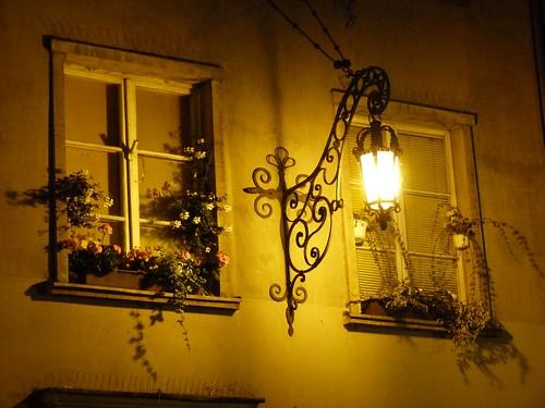 Detalle nocturno de Gdansk