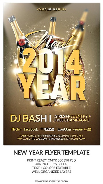 happy new year 2014 new year 39 s eve party psd flyer template flickr photo sharing