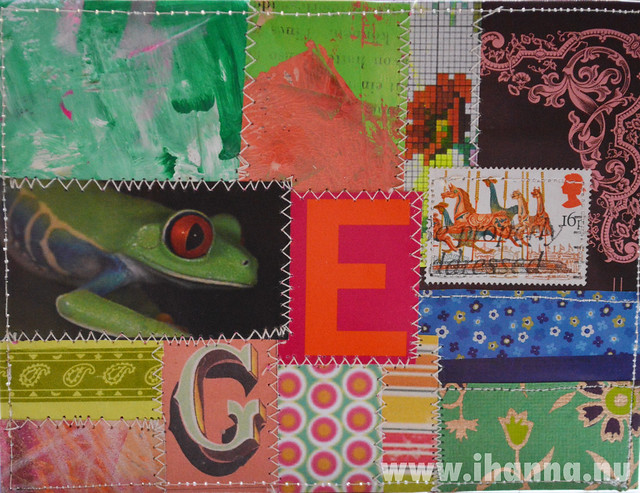 DIY Postcard Pop Art Collage - Tree Frog