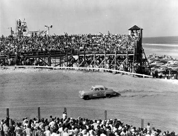 Stock car racing at Daytona Beach, Florida
