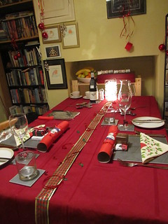 Setting a festive table