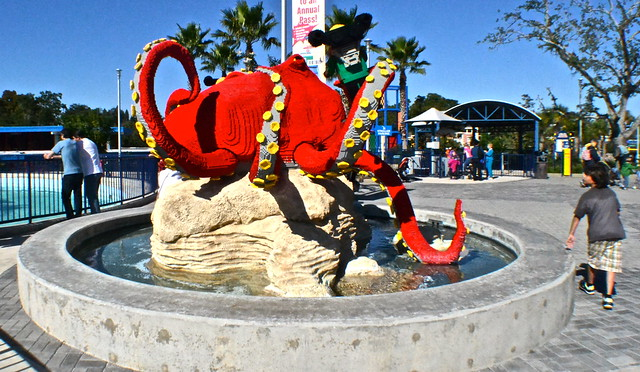 Legoland, Florida - octopus art