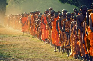 Monks Queuing