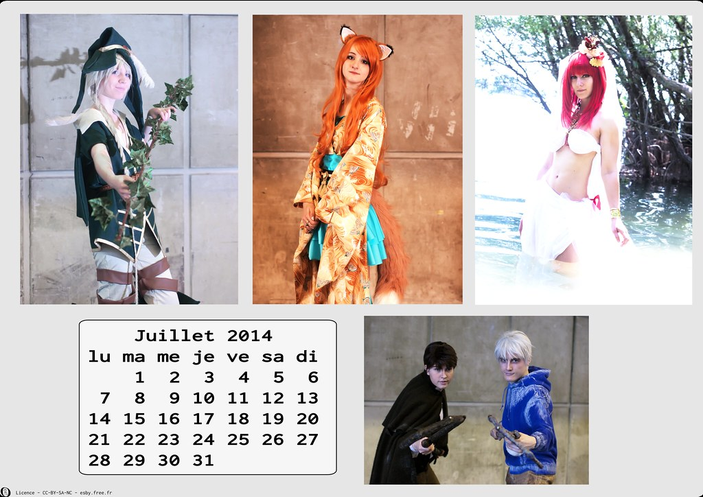 related image - Calendrier Cosplay 2014-07 - Juillet