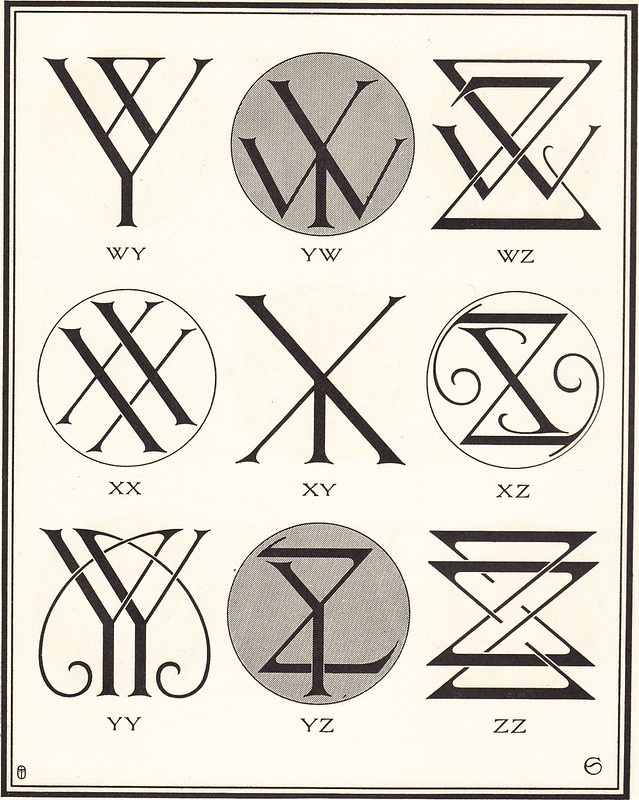 Monograms & Ciphers by AA Turbayne 1912 k