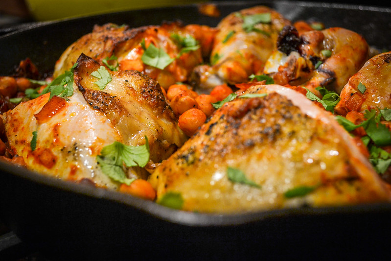 harissa chicken with chickpeas | things i made today