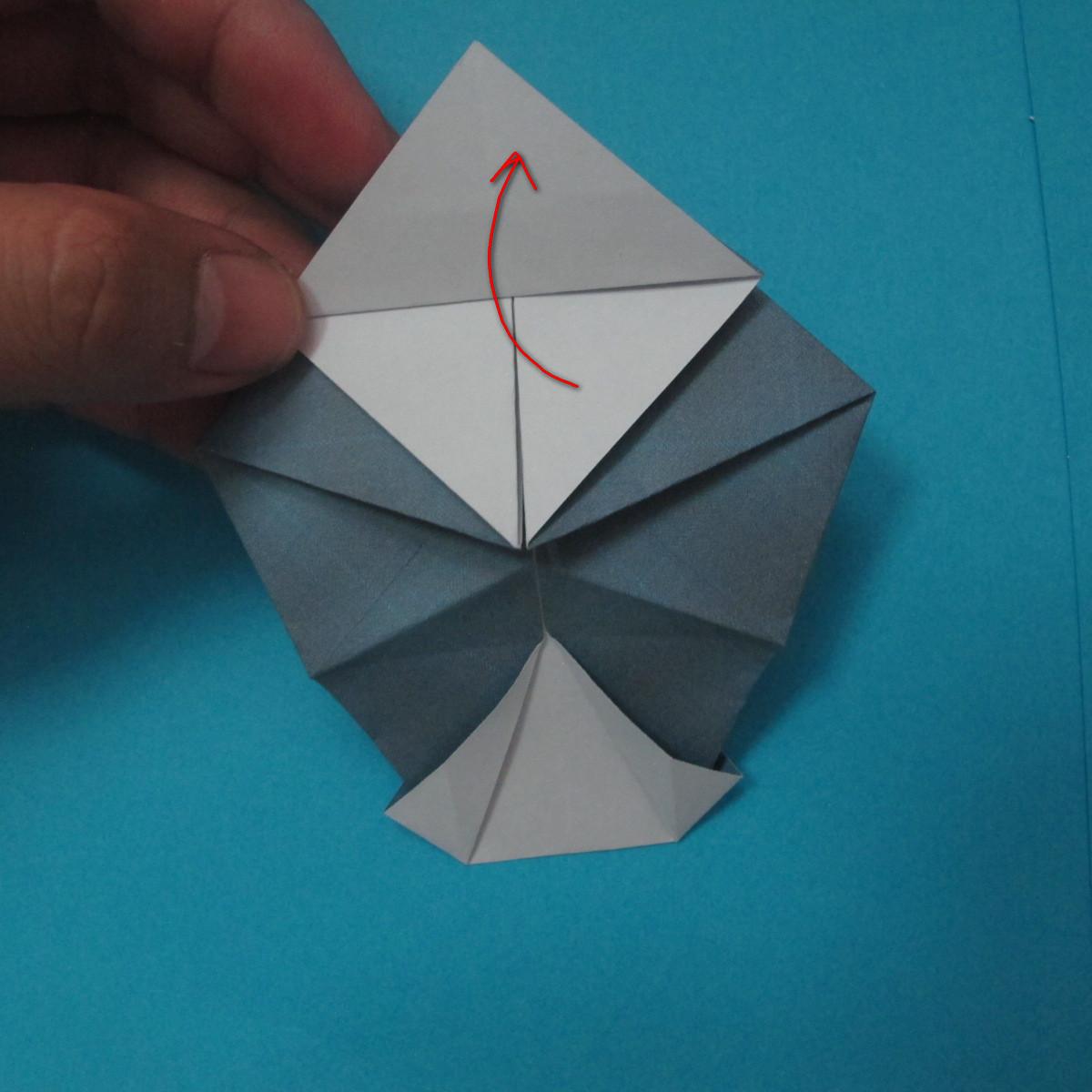 วิธีการพับกระดาษเป็นรูปนกเค้าแมว 020