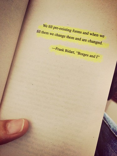 We fill pre-existing forms and when we fill them we change them and are changed. Frank Bidhart